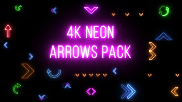 4k Neon Arrows Pack