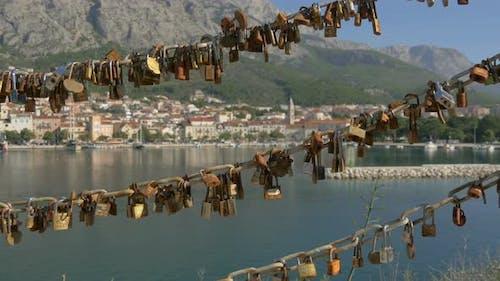 Chains with padlocks