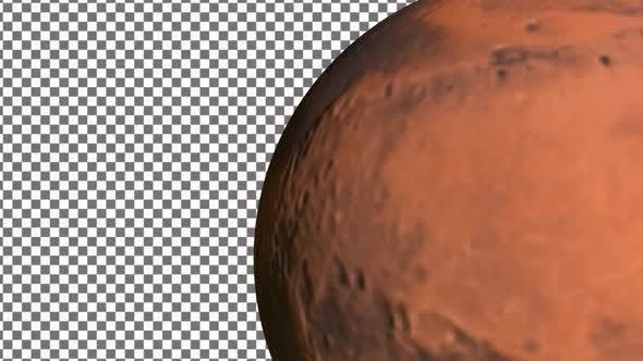 Thumbnail for Mars Planet  Rotation With Alpha Channe  4K