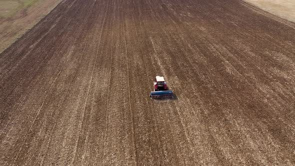Flying Above a Tractor