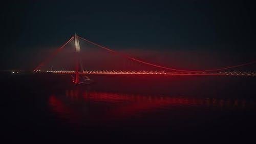 Bridge Over Istanbul Bosphorus in Turkey
