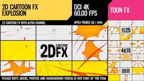 2D Cartoon FX (Explosion Set 21)