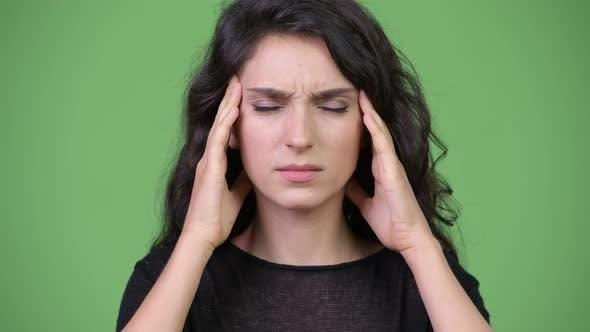 Thumbnail for Young Beautiful Woman Having Headache