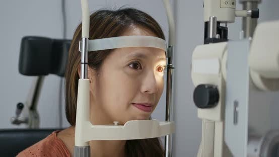 Thumbnail for Woman Check Eye in The Clinic