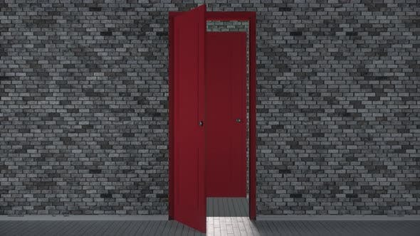 Endlessly Opening Red Doors