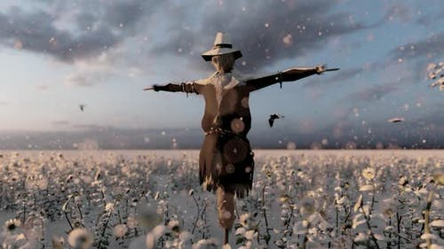 Scarecrow in Winter