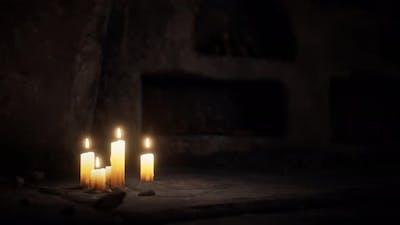 Old Dark Stone Underground Catacombs