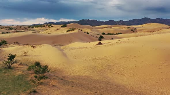 Thumbnail for Aerial View of Sand Dunes Bayan Gobi in Mongolia