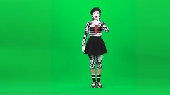 Thumbnail for Mime Girl Changing Emotions on Face