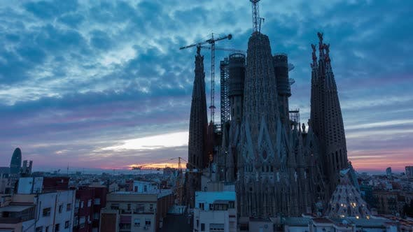 Thumbnail for Timelapse of Barcelona City Skyline