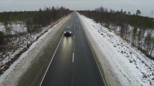 Thumbnail for Driving Along A Winter Road