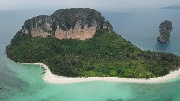 Thumbnail for Aerial View of Tropical Poda Island Thailand