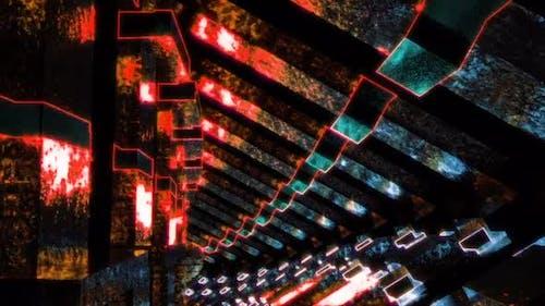 Retro Trippy Corridor