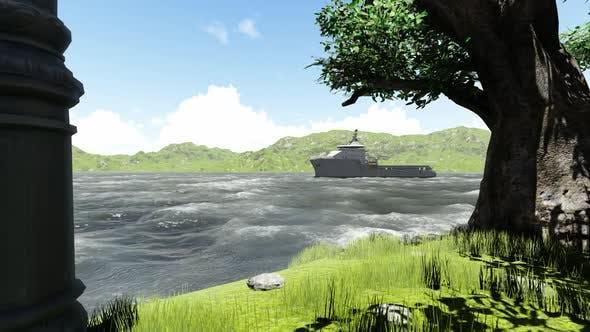 Thumbnail for Das Ölschiff segelt am Morgen