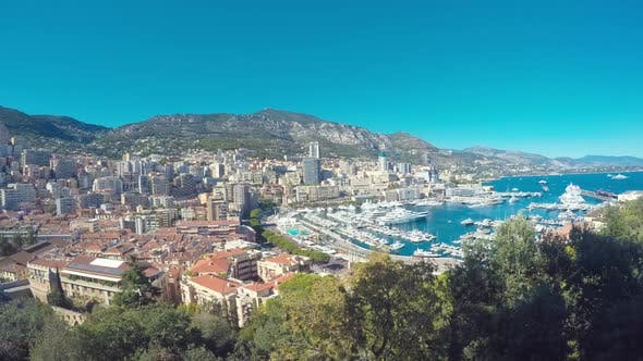 Thumbnail for Panoramic View on The Port of Monaco