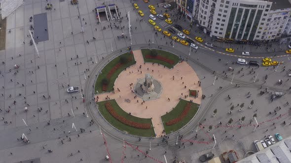 Thumbnail for Istanbul Bosphorus Taksim Square And Mosque Construction Aerial View