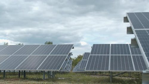 Eco Friendly Energy, Solar Panels at the Power Station,