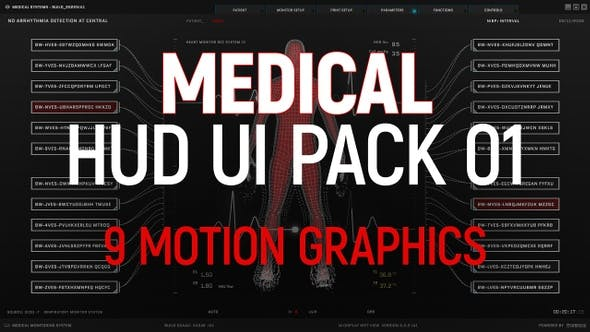 Medical HUD UI Pack 01
