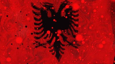 Albanian Flag Particle Animation