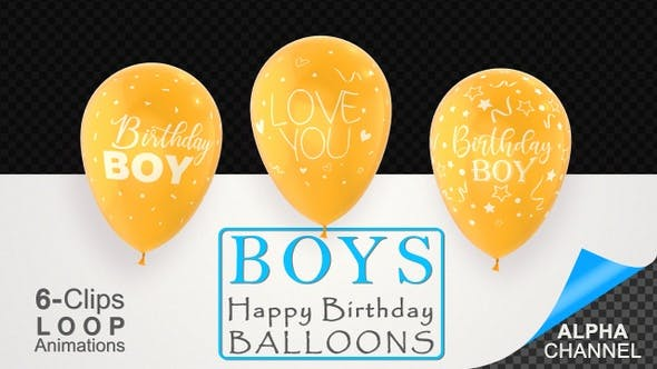 Thumbnail for First Birthday Celebration Balloons - Baby Boy