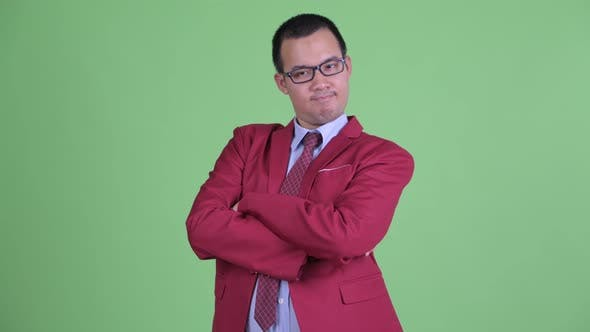 Thumbnail for Happy Asian Businessman with Eyeglasses Smiling with Arms Crossed