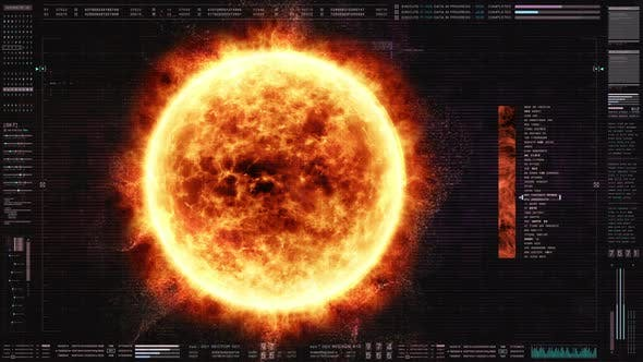 Thumbnail for Futuristic HUD Digital Holographic Sun 01