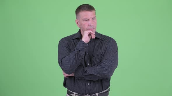 Thumbnail for Stressed Macho Mature Businessman Thinking