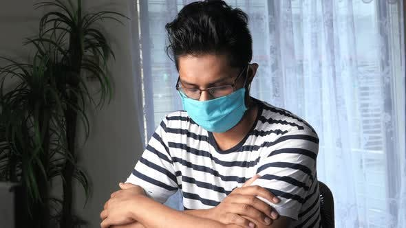 Thumbnail for Young Man Wearing Hygienic Mask To Prevent Infection