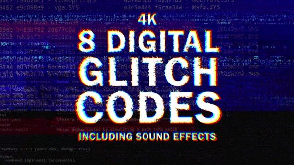 Thumbnail for 8 Digital Glitch Codes in 4k