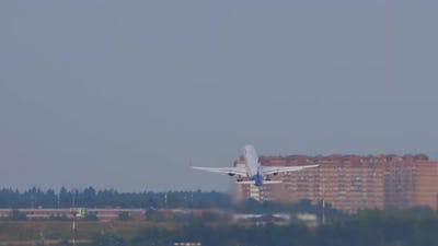 Passenger Plane Taking Off