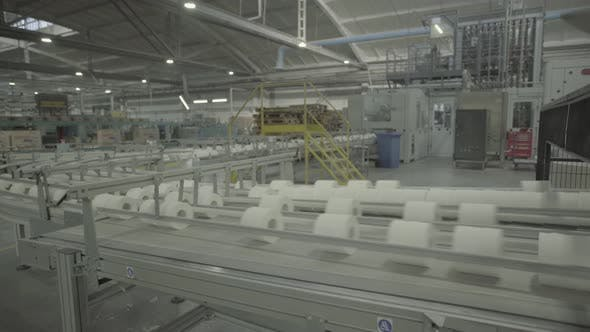 Thumbnail for A Working Conveyor in a Paper Mill. Technology. Factory. Kyiv. Ukraine.