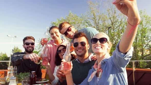 Thumbnail for Happy Friends Taking Selfie at Rooftop Party 51