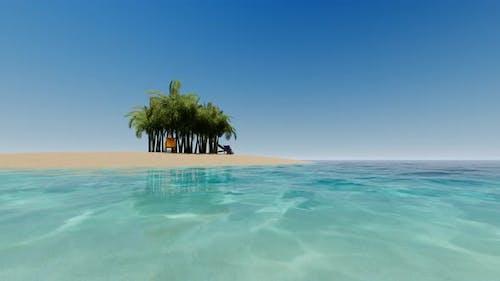 Tropical Island. Summer Vacation Sea Landscape