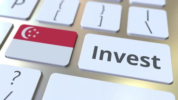 Thumbnail for INVEST Text and Flag of Singapore on the Keyboard
