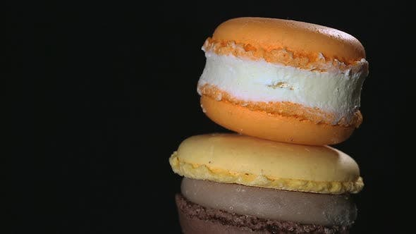 Thumbnail for Traditional French Macaron Dessert, Delicious Confectionery Masterpiece, Closeup