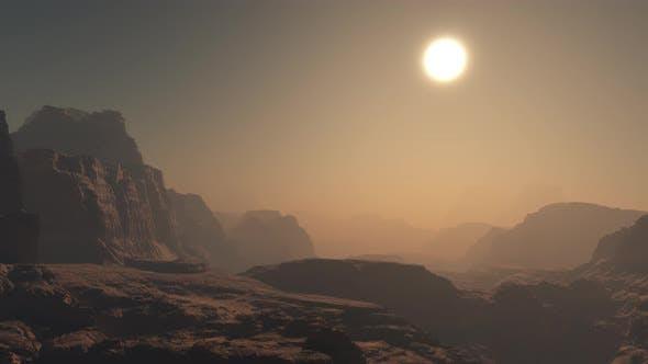 Thumbnail for Flying On Mars Mountain 4K