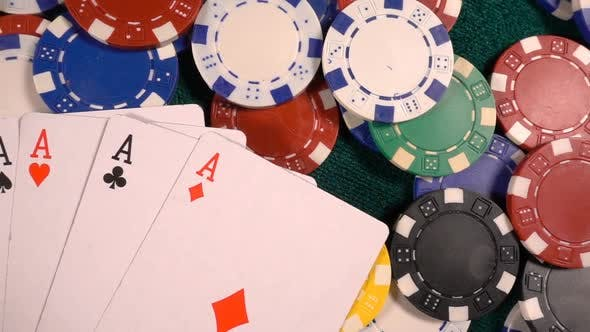 Cover Image for Gambling Money Chips And Poker Cards 3