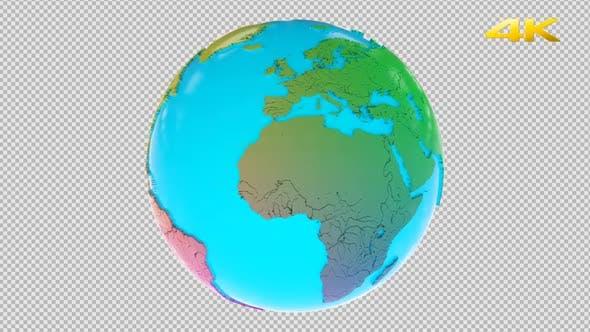 Thumbnail for Cartoon Earth 3D 4K