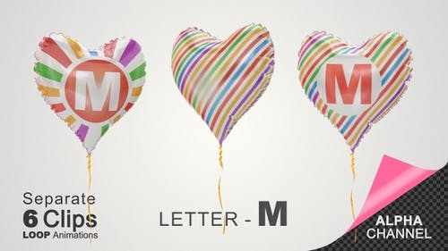 Balloons with Letter - M