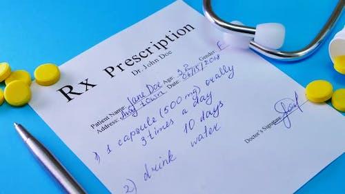RX Prescription List To Patient