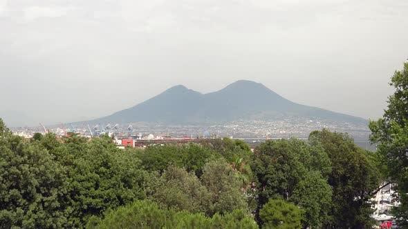 Thumbnail for Mount Vesuvius Volcano in Naples City in Italy