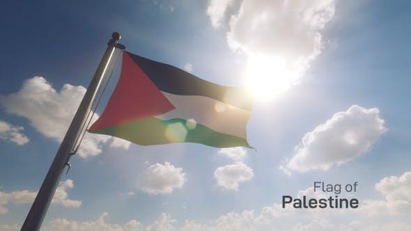 Thumbnail for Palestine Flag on a Flagpole V2