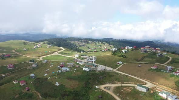 Thumbnail for Trabzon City Village On Top Of Mountains Aerial View