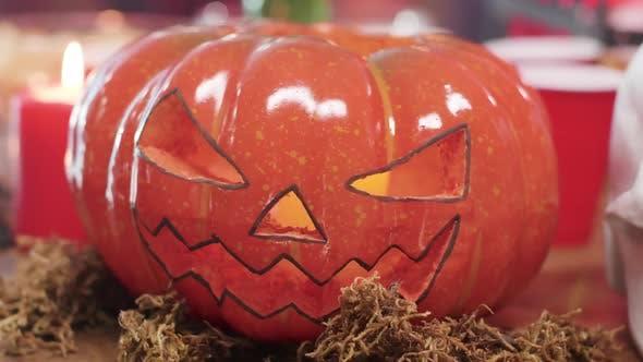 Scary geschnitzt Kürbis Jack-o-Laterne Halloween-Element