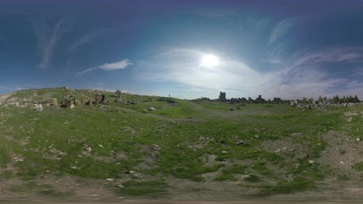 Thumbnail for 360 VR Father with Son Exploring Ancient City Hierapolis in Turkey