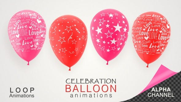 Celebration Balloons For Valentine's Day and Birthday Events