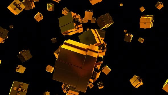 Thumbnail for Falling Gold Gift Boxes