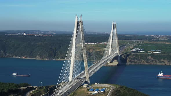 Thumbnail for Istanbul Yavuz Sultan Selim Bridge Aerial View 2