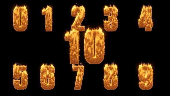 Thumbnail for Fire Numbers Collections From 0 To Ten
