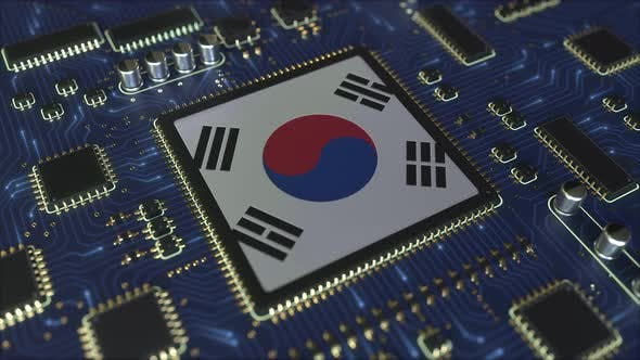 Thumbnail for Flag of South Korea on the Operating Chipset